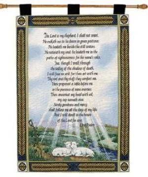 23rd Psalm Wallhanging