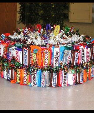 Loaded with all kinds of candies