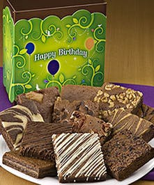 A dozen delicious birthday brownie treats!