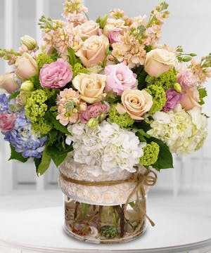Roses, Hydrangea and choice flowers for a very special someone